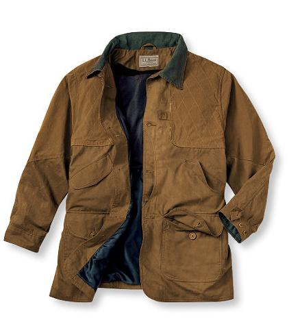 Bean upland field coat in waxed cotton 171