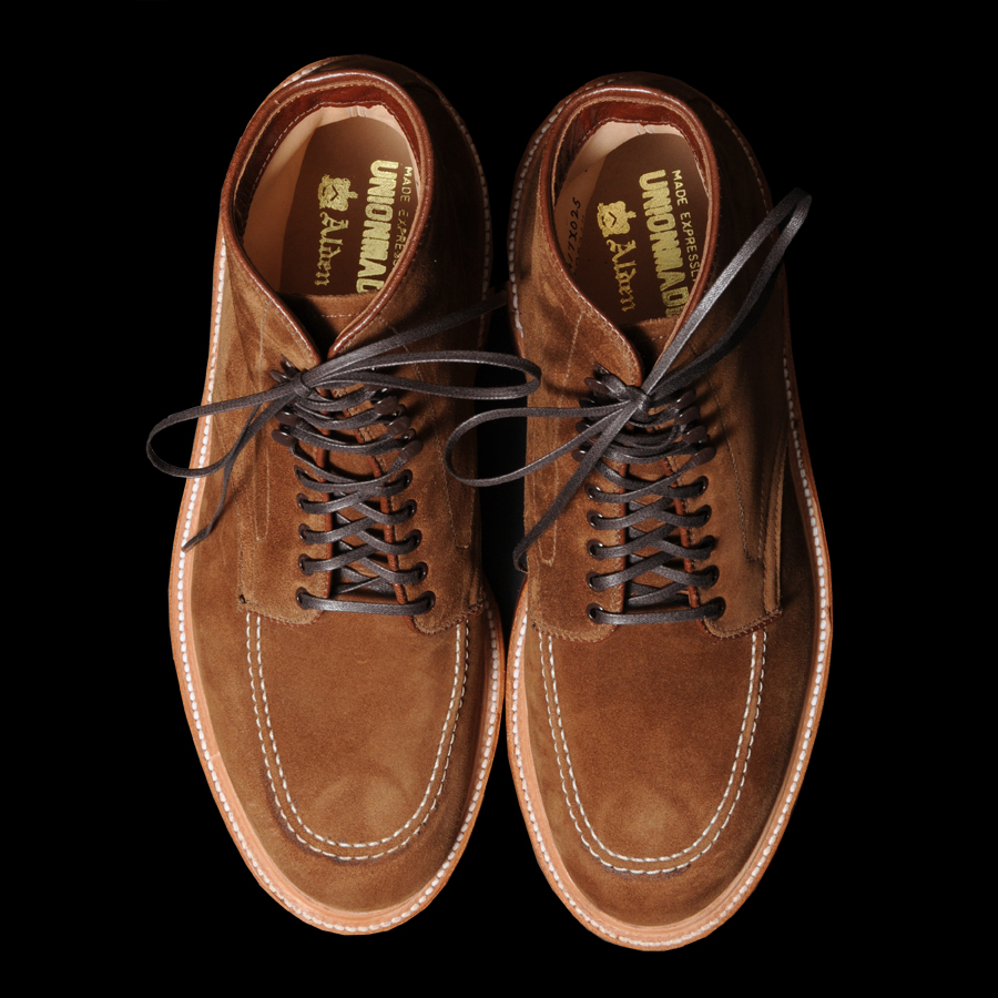alden x unionmade snuff suede indy boot